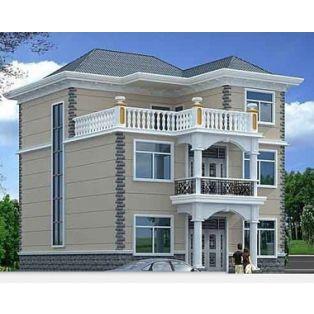 AT961三层带露台别墅图纸全套结构设计工程1v别墅图纸水电先图片