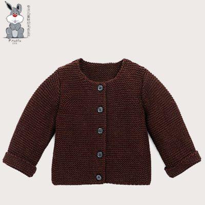儿童针织开衫毛衣外套秋冬季新款 儿童针织毛衣厂家