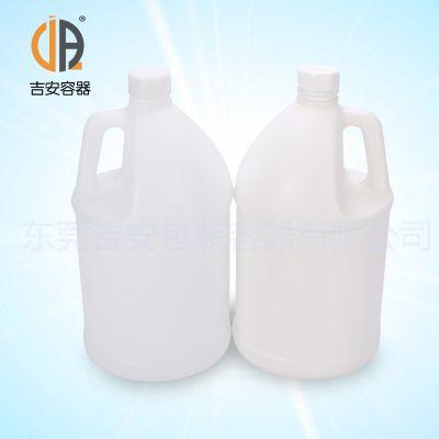 供应HDPE塑料罐 4L圆罐 4kg化工抽手罐包装桶