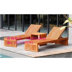 定制沙滩木质休闲躺椅 太阳椅