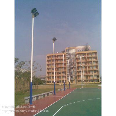 篮球场灯杆灯具安装离球场边线有多远 广东球场灯杆安装指导 10米双头球场灯杆定价