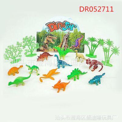 2寸迷你恐龙套装 静态动作恐龙玩具 装糖赠品小玩具批发 原产地