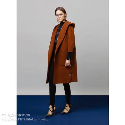 供应双面羊绒大衣加盟女装品牌折扣店 商场专柜