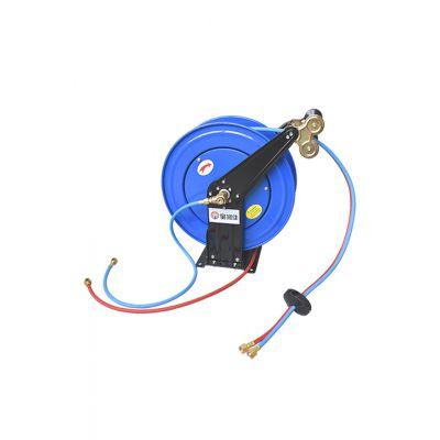 供应深圳宝润佳CAD系列乙炔氧气并联气管卷管器 双管卷盘 自动回收软管盘