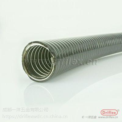 平包塑金属穿线管 凹槽内加棉线金属软管 抗压穿线管