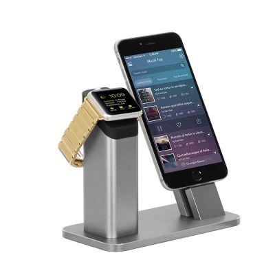 铝合金苹果手机支架金属applewatch充电底座礼品手机支架批发