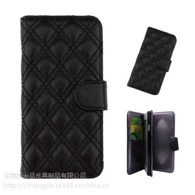 淘宝天猫货源 皮革手机保护壳 翻盖式卡袋4.7寸手机皮套 东莞工厂 OEM