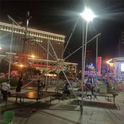 公园游乐场成人电动蹦蹦床,广场新款飞天蹦极,成人电动钢架蹦极