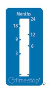 智能型货架期显示贴 进口timestrip24个月贮存储存指示贴条