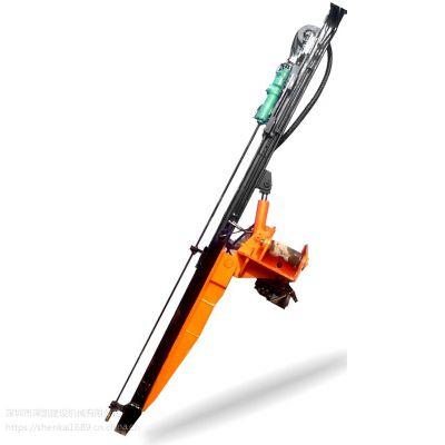 一带一路挖掘机改装液压钻机一分钟一米深凯品牌