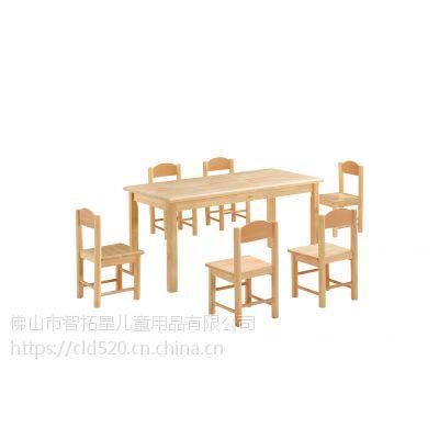 供应ZTX-0202佛山智拓星橡木水性漆幼儿园桌椅