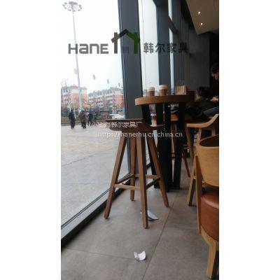 工厂定制新款星巴克家具 简约星巴克实木桌椅 上海韩尔家具厂