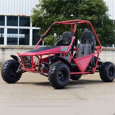 双座方向盘汽油卡丁车 真皮座椅越野卡丁车 出口品质钢管越野车