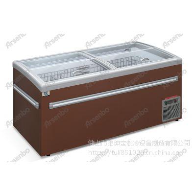 雅绅宝 YZ18WD超市冷冻冷藏保鲜卧式展示柜 商用节能组合式直冷冰柜岛柜