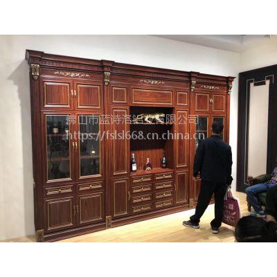蓝诗洛豪华别墅全铝酒柜定制 北京全铝家居 欧式酒柜