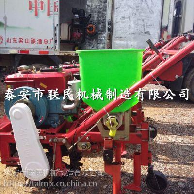 泰安联民供应 汽油轮式耕耘机 手推式玉米豆播种机 灵活方便