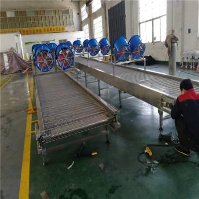 304不锈钢网带输送机 耐高温食品传输机 水平流水线传送带 自动化设备 德隆非标定制