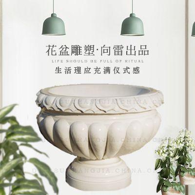 罗马柱玻璃钢花盆 落地式景观花盆 可定制 价格合理