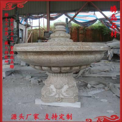 惠安石雕专业加工大型水景喷泉、别墅户外欧式喷泉水钵景观摆件