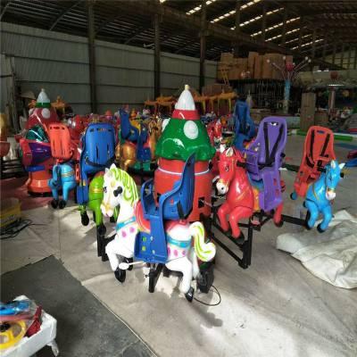 方便移动炫彩旋转动物转转车,旋转升降熊出没儿童玩具,六座旋转座椅