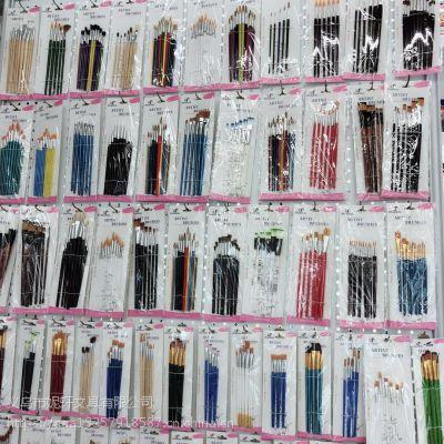 厂家供应高中档油画笔 儿童画笔 颜料画笔 油画笔套装