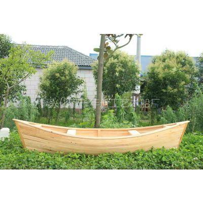 酒店装饰木船生产厂家雄鸡船|刚朵拉|两头尖木船|独木舟|道具船|景观船|养花船