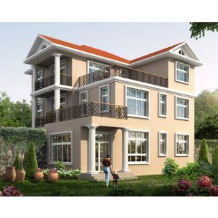 新余房子设计AT1771三层漂亮现代风格带屋顶花园复式楼别墅设计图纸12.6mX13.5m