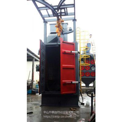 工厂直销北京喷砂机 378吊钩式抛丸机弯头接管去氧化层