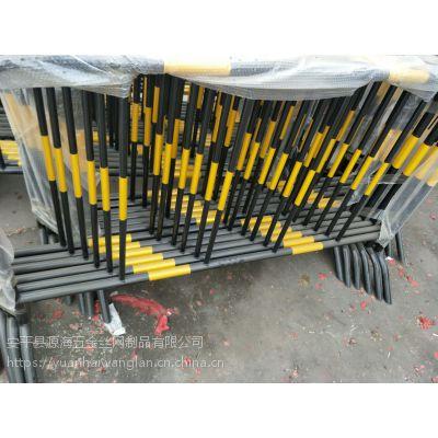 施工铁马护栏 道路/建筑施工围挡 市政铁马隔离栏 安平江海网栏