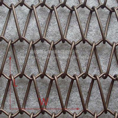 丝美艺XY-A2515螺旋编织铁丝网 室内幕墙金属网带 河北丝网