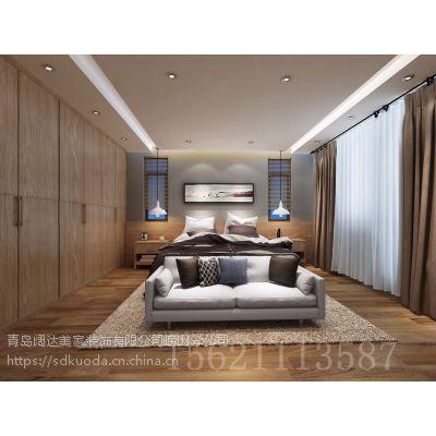 青岛装修:龙湖锦璘原著大户型别墅简约沉稳的设计风格