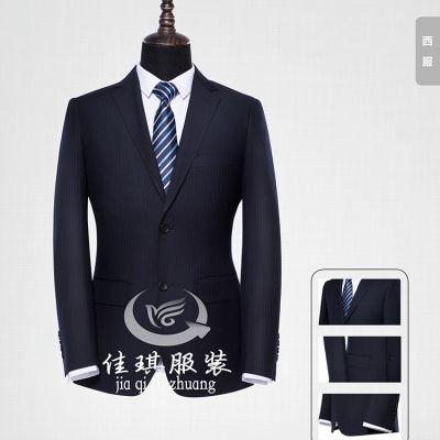 现货男士西服套装,仿毛男士西服,黑色男性职业装