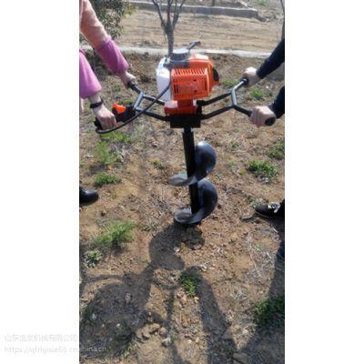 双人手提果树种植挖坑机 大功率手提式打坑机
