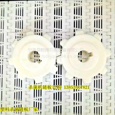 乾德塑料链板输送带厂家食品用无毒无味 节距50.8塑料链板输送带