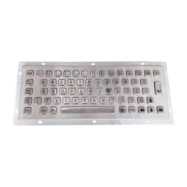 供应PS/2中性LOD-281防水防尘防暴300*110mm不锈钢PC金属键盘