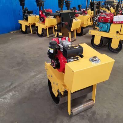 天德立600型手扶式风冷柴油压路机 4KW压沥青压草坪压实机