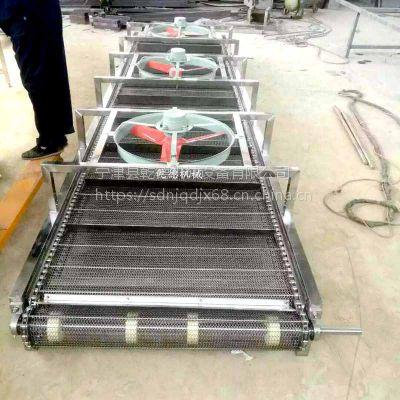 常温不锈钢网带式风干输送机 蔬菜晾干输送设备厂家乾德