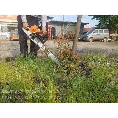 果园铲式挖树机图片 润众 苗圃移苗挖树机视频