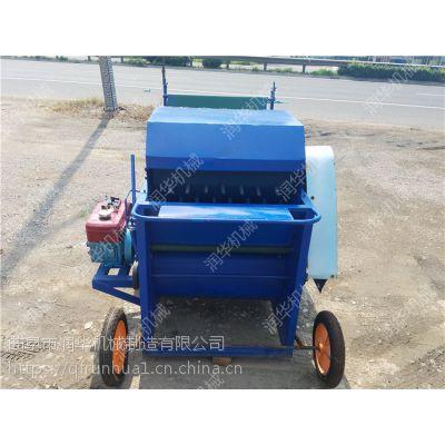 毛豆秧果分离干净 全能新式毛豆采摘机 润华农机豆荚采摘机