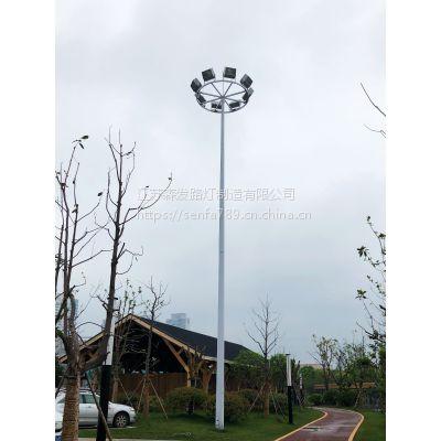 【路灯照明厂家 】15米20米25米400W高压钠灯金卤灯Led灯篮球场足球场高杆灯