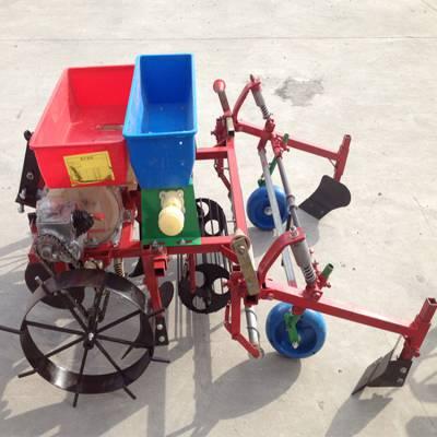 多行花生播种机 玉米花生播种覆膜机 四轮车喷药覆膜机