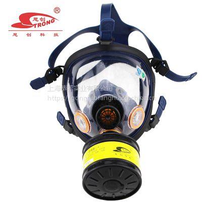 思创 防毒大面具防喷漆消防气体化工氨气一氧化碳硫化氢S100-2