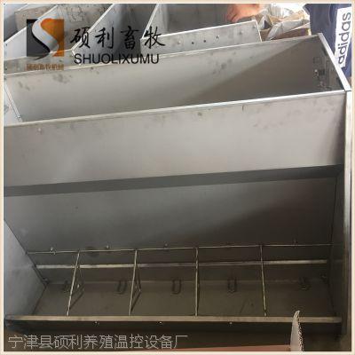 养殖业专用喂猪饲料槽不锈钢大猪双面料槽全力致力于养猪行业