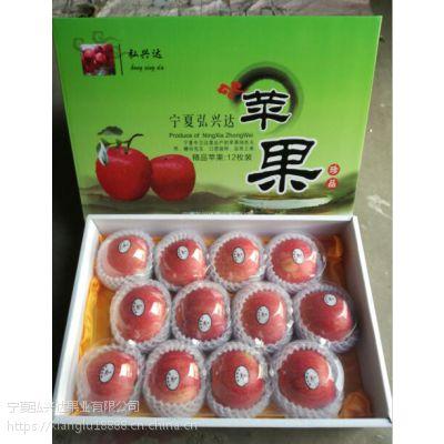 全国供应中卫红富士香麓富硒苹果80mm绿色有机水果沙坡头红富士苹果纯天然无污染