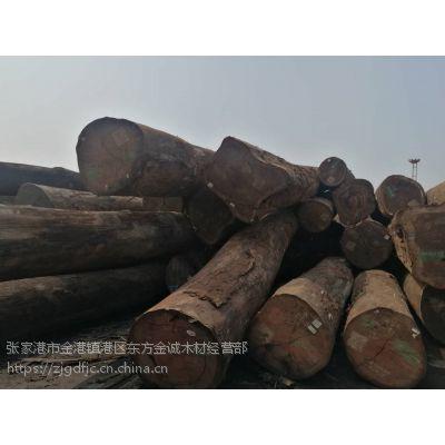 张家港现货供应非洲刚果加蓬红花梨木原木