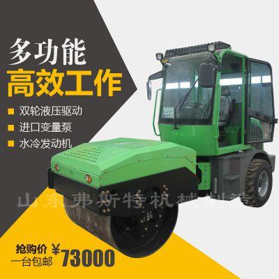 弗斯特4吨后胶轮压路机出类拔萃 驾驶式座驾压路机价格