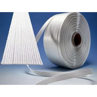 聚酯纤维柔性打包带|柔性复合捆绑带|集装箱货物尾部固定打包带|维修打包机