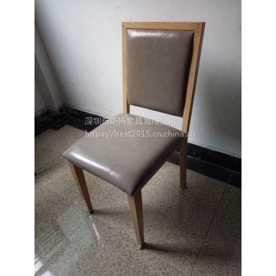 倍斯特现货现代中式日韩料理金属仿木椅休闲中餐火锅奶茶餐椅厂家定制