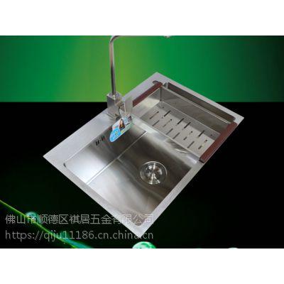 广东祺祥居加厚进口SUS304不锈钢手工盆水槽单槽单盆6545厨房整体橱柜洗菜池