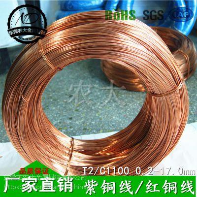 广东红铜线 广州紫铜线 铜线材生产厂家